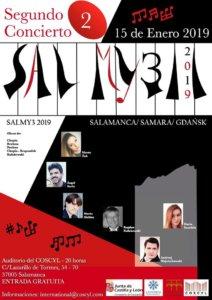Conservatorio Superior de Música de Castilla y León COSCYL Festival Salmy3 15 de enero de 2019