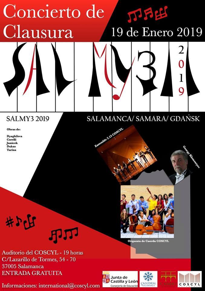 Conservatorio Superior de Música de Castilla y León COSCYL Festival Salmy3 19 de enero de 2019 Salamanca