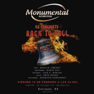Pub Monumental Back to Hell Salamanca Febrero 2019