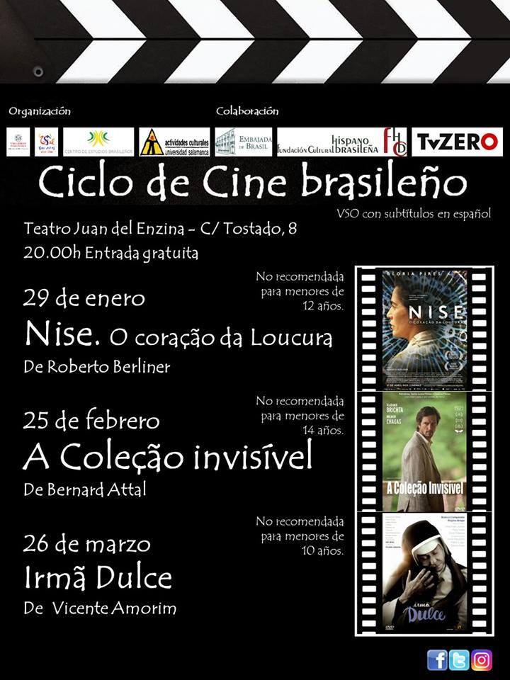 Aula Teatro Juan del Enzina Ciclo de Cine Brasileño Salamanca Enero febrero marzo 2019