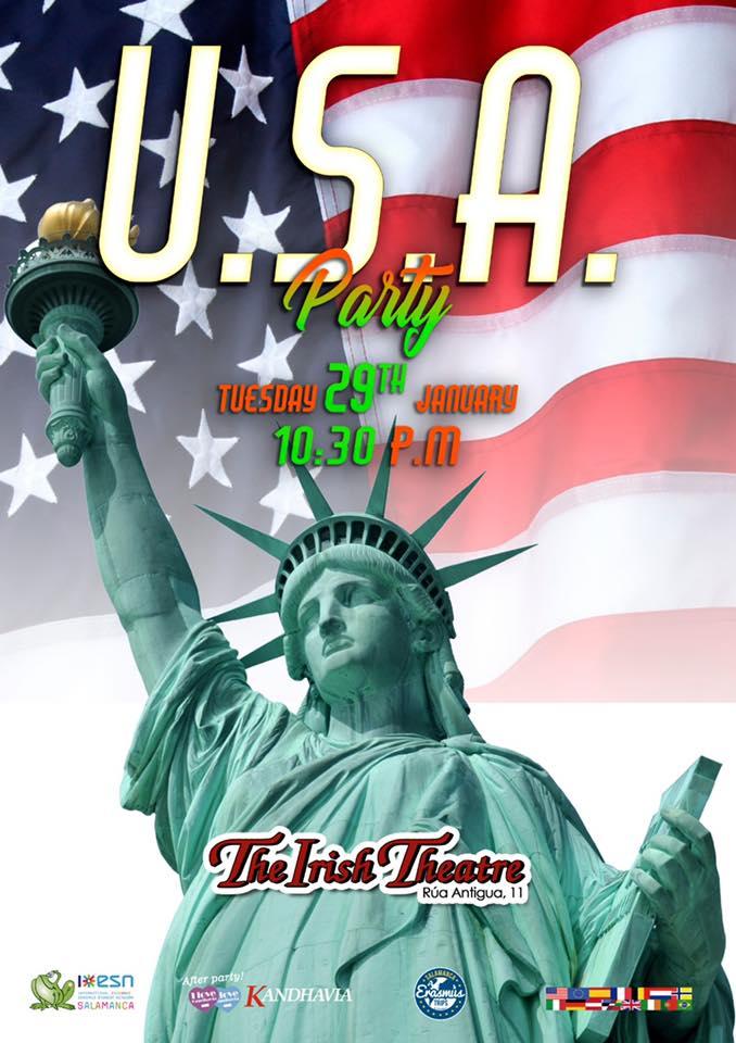 The Irish Theatre USA Party Salamanca Enero 2019