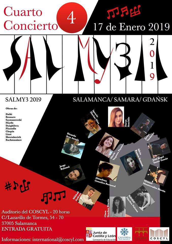 Conservatorio Superior de Música de Castilla y León COSCYL Festival Salmy3 17 de enero de 2019