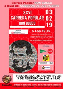 Salamanca XXVI Carrera Popular Don Bosco Febrero 2019