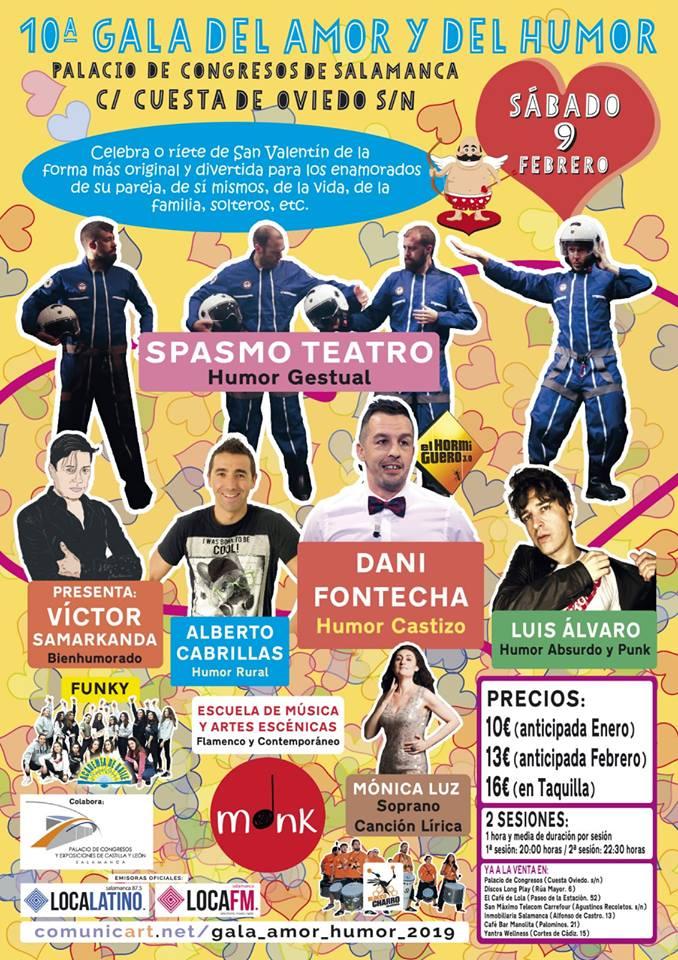 Palacio de Congresos y Exposiciones Gala del Amor y del Humor Salamanca Febrero 2019