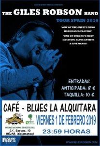 La Alquítara The Giles Robson Band Béjar Febrero 2019
