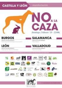 Plaza Mayor Manifestación No a la Caza Salamanca Febrero 2019