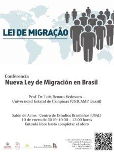 Centro de Estudios Brasileños Nueva Ley Migratoria de Brasil Salamanca Enero 2019