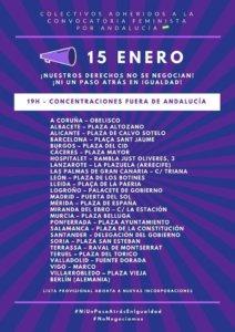 Plaza de la Constitución Ni un paso atrás en Igualdad Salamanca Enero 2019
