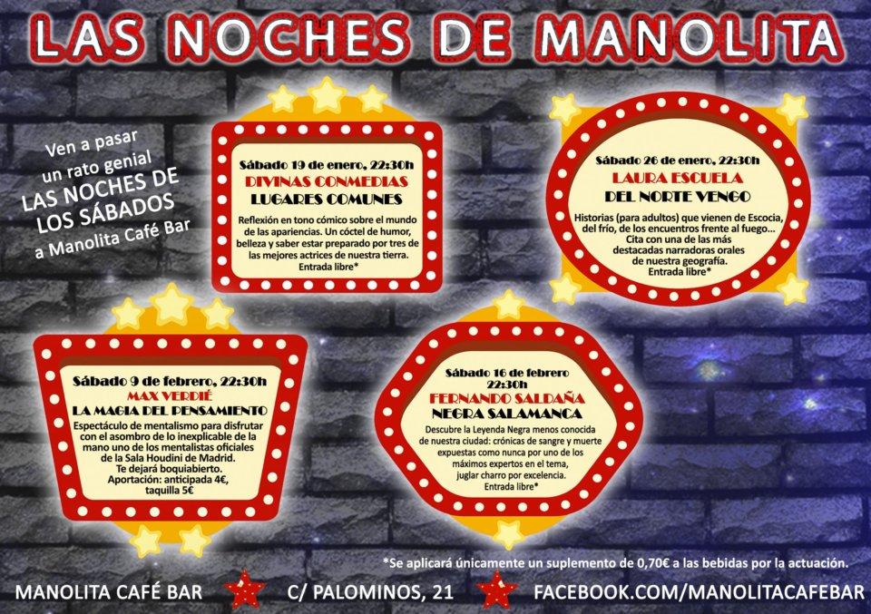 Manolita Café Bar Las noches de Manolita Salamanca Enero febrero 2019