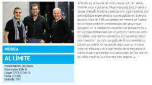 Centro de las Artes Escénicas y de la Música CAEM Al Límite Conciertos Sala B Salamanca Enero 2019