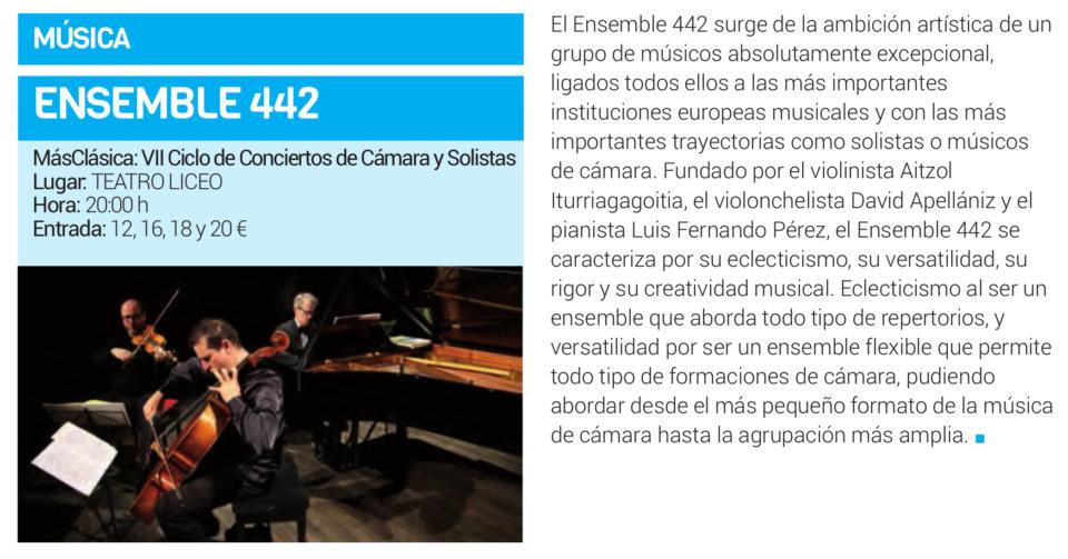 Teatro Liceo Ensemble 442 Salamanca Enero 2019