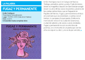 Teatro Liceo Fugaz y permanente Salamanca Enero 2019