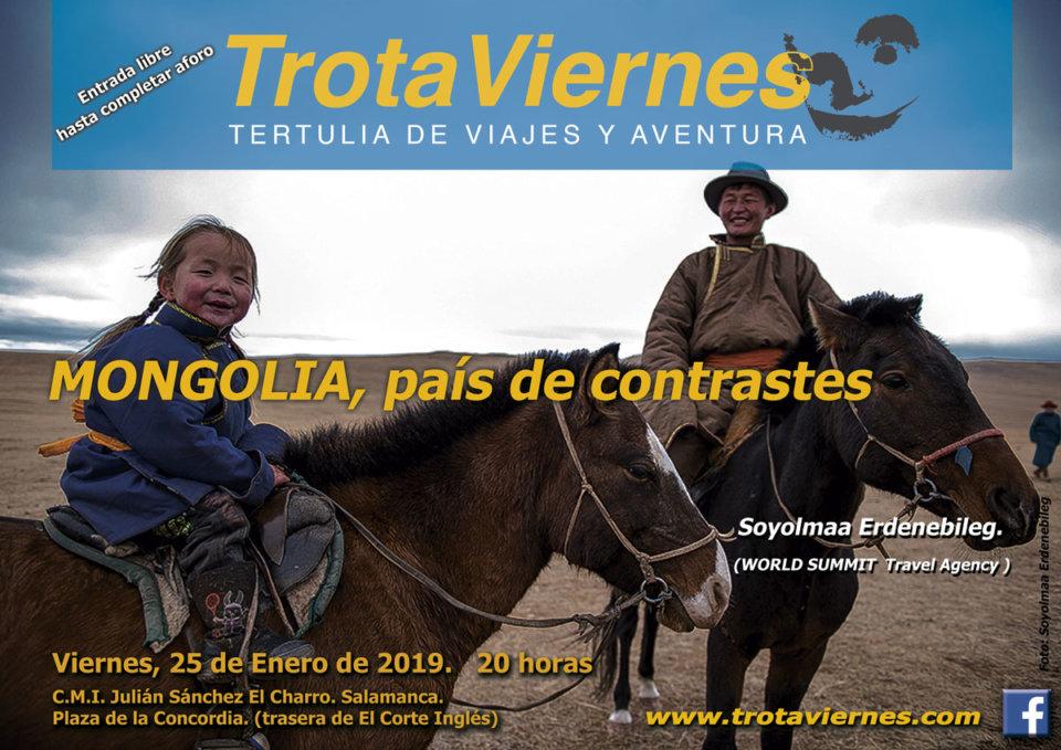 Julián Sánchez El Charro Trotaviernes Mongolia, país de contrastes Salamanca Enero 2019