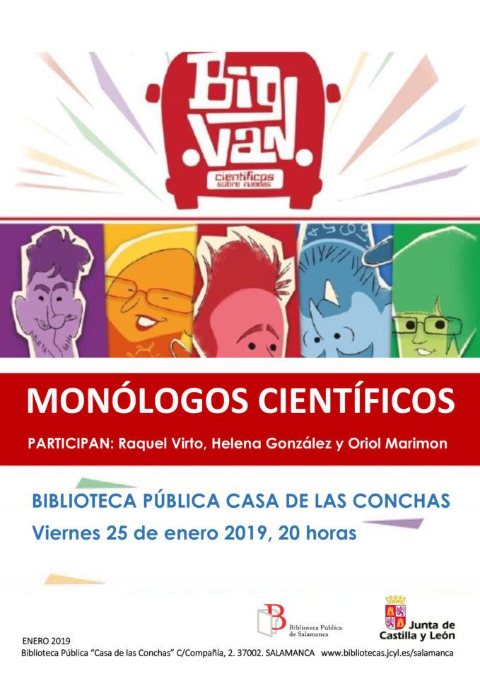 Casa de las Conchas Monólogos Científicos Salamanca Enero 2019