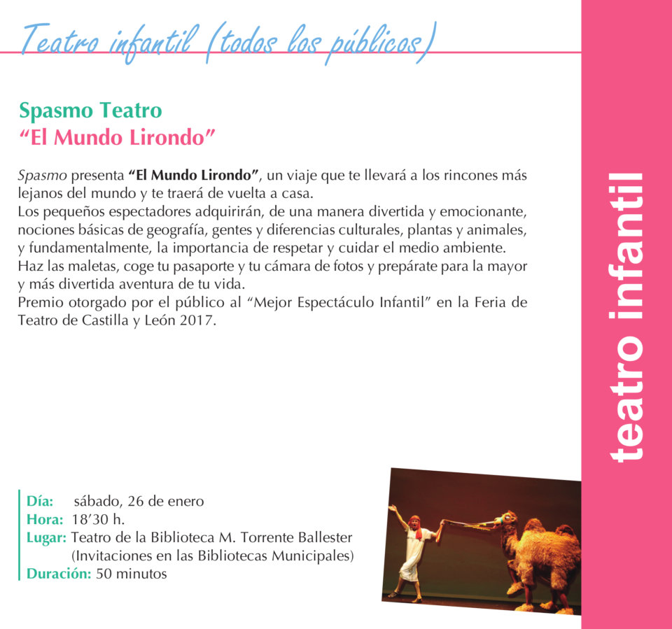 Torrente Ballester Spasmo Teatro Salamanca Enero 2019