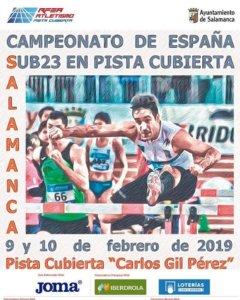 La Aldehuela XXXIV Campeonato de España Sub23 en Pista Cubierta Salamanca Febrero 2019