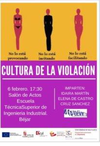 Béjar Cultura de la Violación Universidad de la Experiencia Febrero 2019