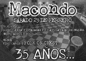 Macondo XXXV Aniversario Salamanca Febrero 2019