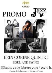 Casino de Salamanca Erin Corine Quintet Febrero 2019