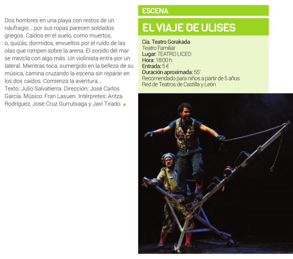 Teatro Liceo El viaje de Ulises Salamanca Febrero 2019