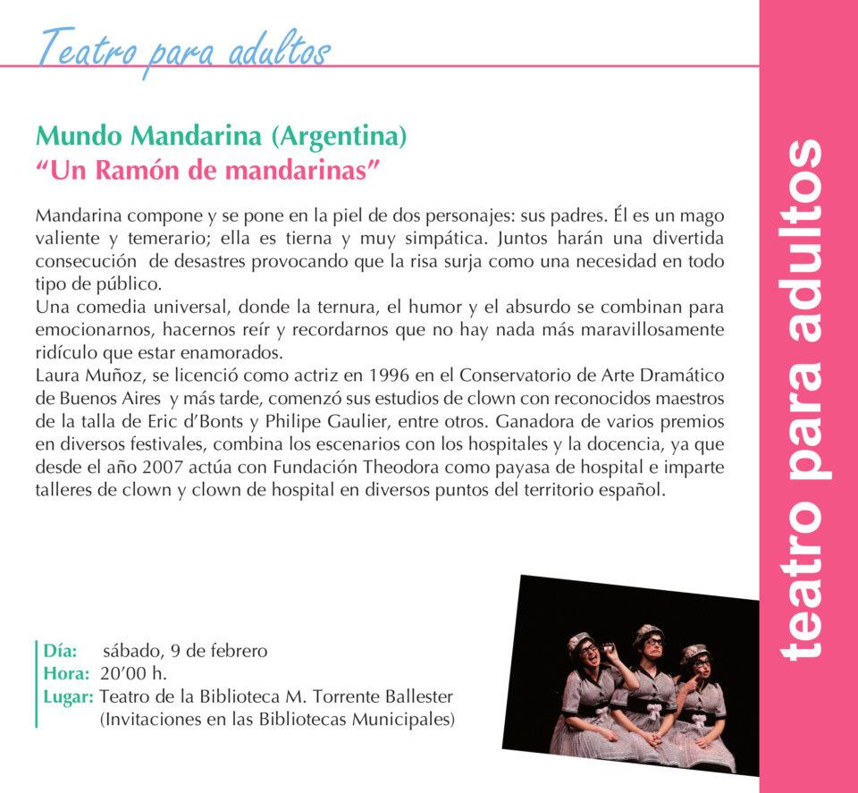 Torrente Ballester Mundo Mandarina Salamanca Febrero 2019