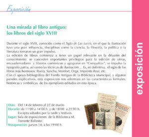 Torrente Ballester Una mirada al libro antiguo: los libros del siglo XVIII Salamanca Febrero marzo 2019