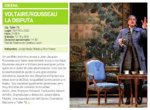 Teatro Liceo Voltaire/Rousseau. La disputa Salamanca Febrero 2019
