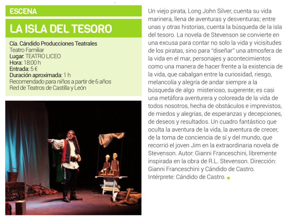 Teatro Liceo La isla del tesoro Salamanca Febrero 2019