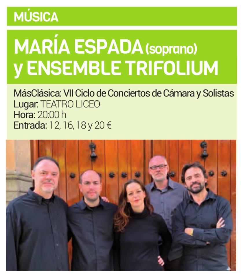 Teatro Liceo María Espada y Ensemble Trifolium Salamanca Febrero 2019