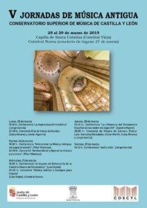 Catedral Vieja V Jornadas de Música Antigua Salamanca Marzo 2019