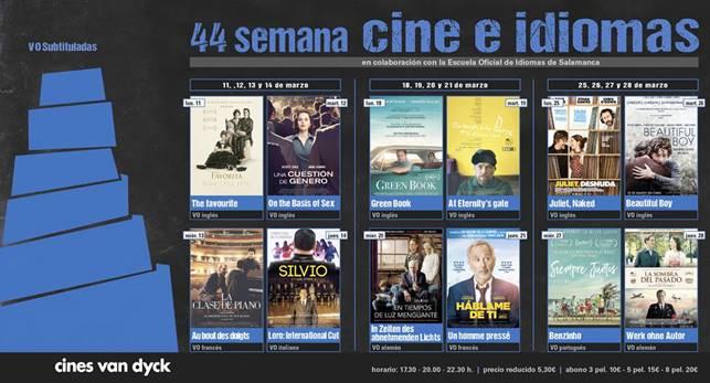 Cines Van Dyck 44 Semana Cine e idiomas Salamanca Marzo 2019
