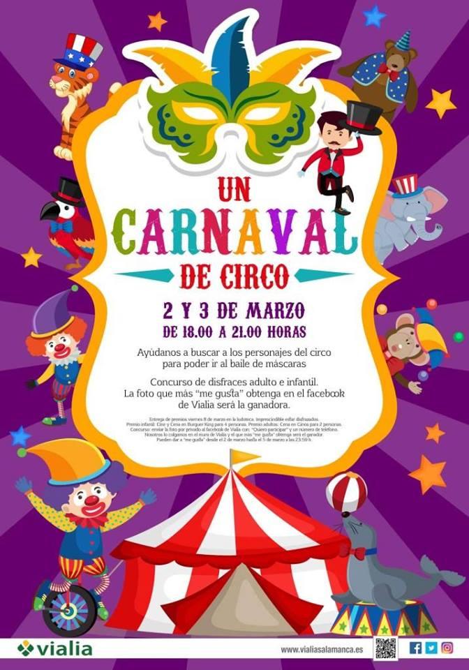 Centro Comercial Vialia Un Carnaval de Circo Salamanca Marzo 2019