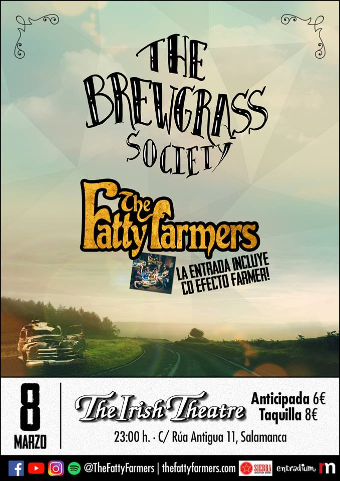 The Irish Theatre The Fatty Farmers + The Brewgrass Society Salamanca Marzo 2019