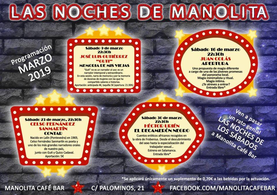 Manolita Café Bar Las noches de Manolita Salamanca Marzo 2019
