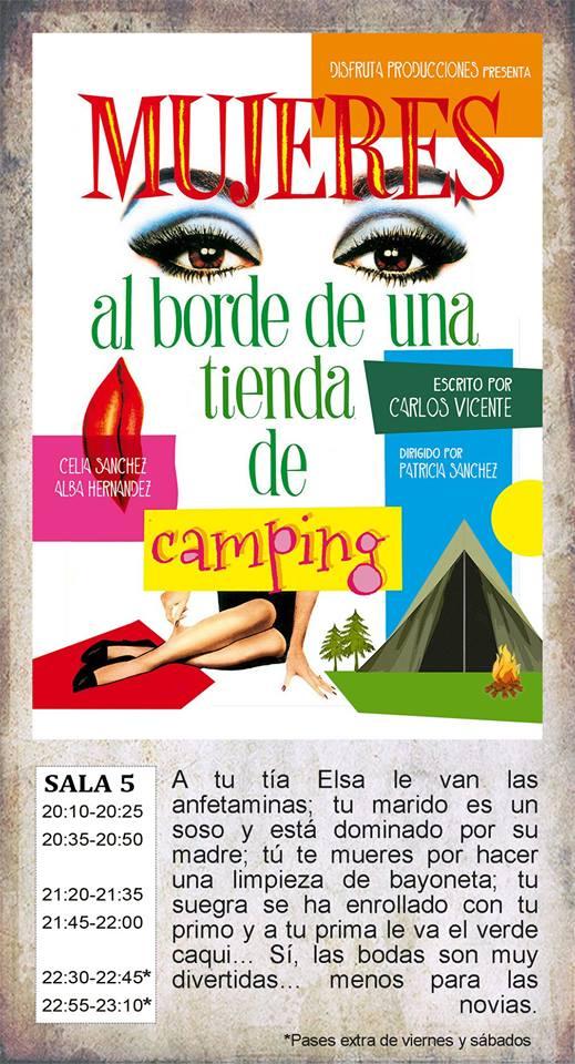 La Malhablada Mujeres al borde de una tienda de camping Salamanca Marzo 2019