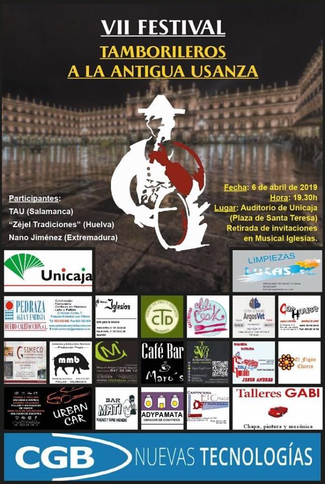 Teatro EspañaDuero VII Festival Tamborileros a la Antigua Usanza Salamanca Abril 2019
