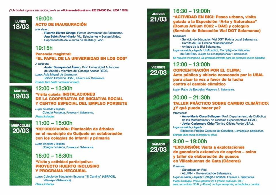 Universidad de Salamanca XII Semana Verde Marzo 2019
