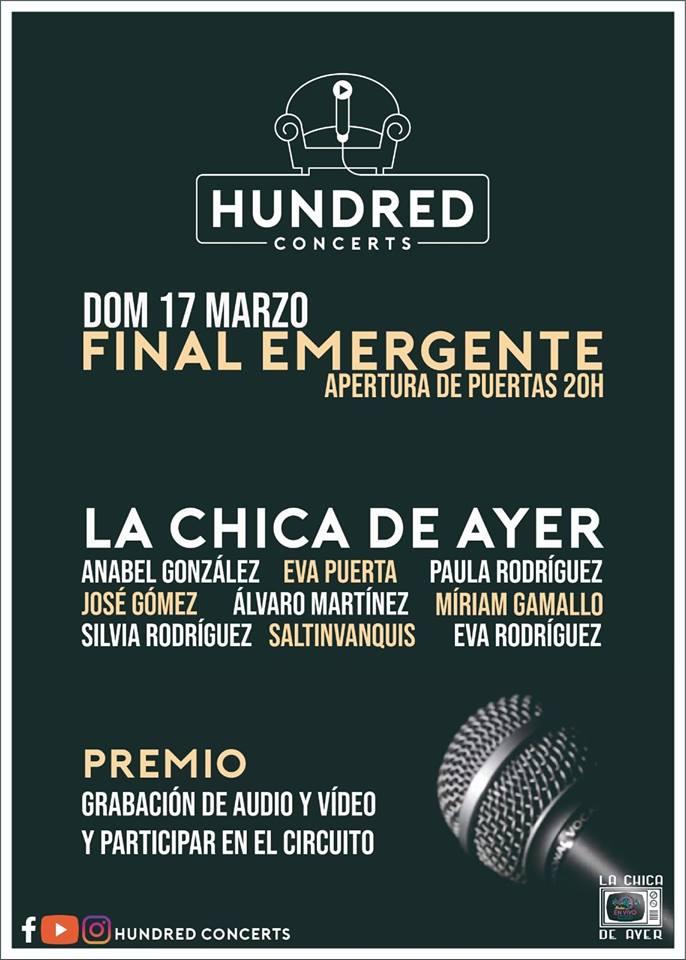 La Chica de Ayer Concurso Emergente Salamanca Marzo 2019