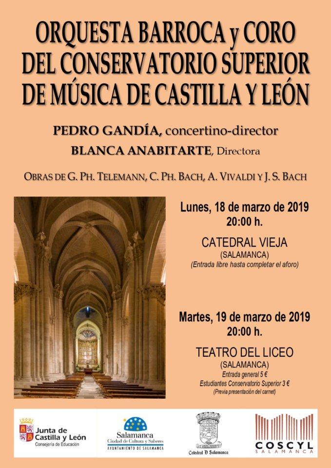 Orquesta Barroca y Coro de Cámara del Conservatorio Superior de Música de Castilla y León Salamanca Marzo 2019