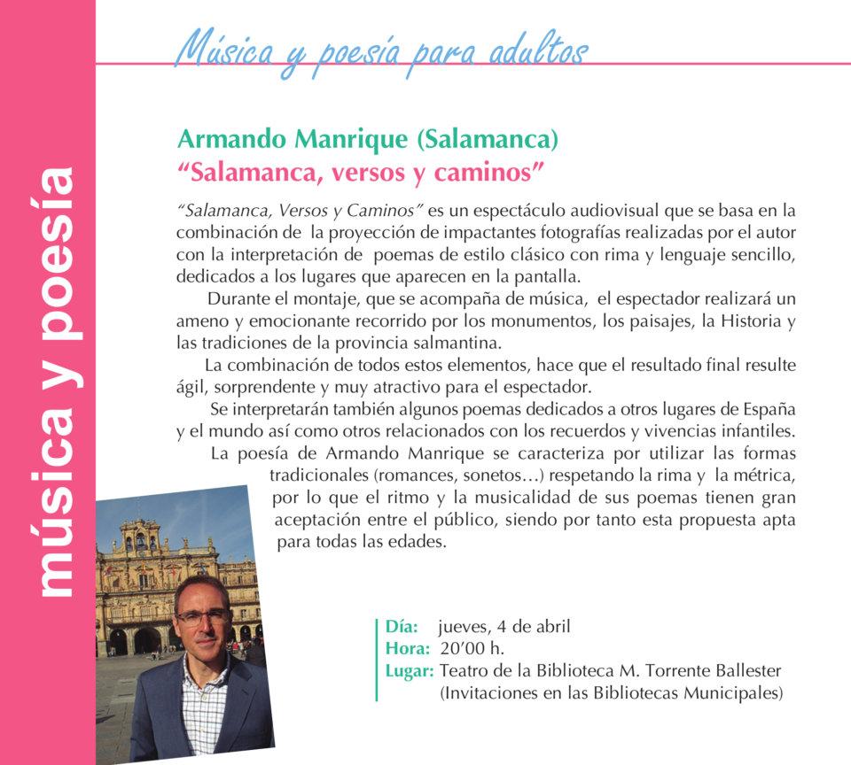 Torrente Ballester Armando Manrique Salamanca Abril 2019