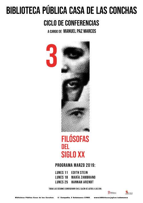 Casa de las Conchas Tres filósofas del siglo XX Salamanca Marzo 2019