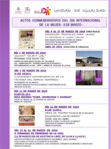 Día Internacional de la Mujer Universidad de Salamanca Marzo 2019