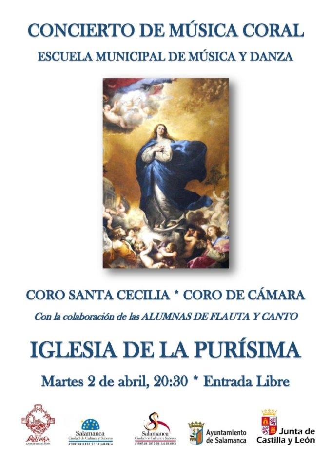 Iglesia de la Purísima Concierto de Música Coral Salamanca Abril 2019