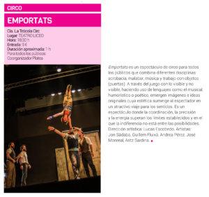 Teatro Liceo La Trócola Circ Salamanca Marzo 2019