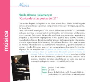 Torrente Ballester Sheila Blanco Salamanca Marzo 2019