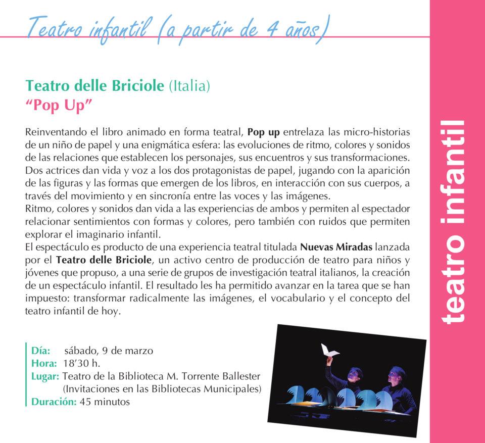 Torrente Ballester Teatro delle Briciole Salamanca Marzo 2019