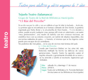 Torrente Ballester Tejuelo Teatro Salamanca Marzo 2019