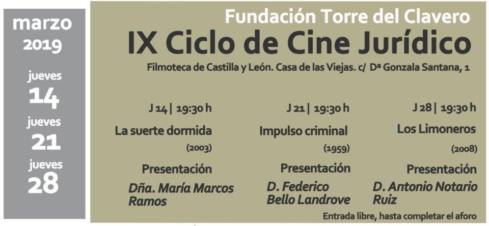 Filmoteca de Castilla y León IX Ciclo de Cine Jurídico Salamanca Marzo 2019