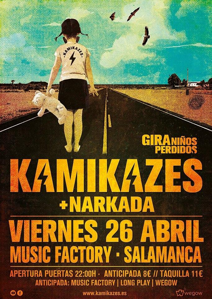Music Factory Kamikazes + Narkada Salamanca Abril 2019