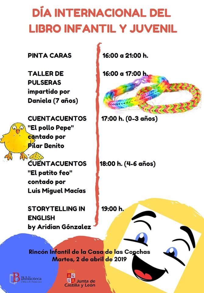 Casa de las Conchas Día Internacional del Libro Infantil y Juvenil Salamanca Abril 2019